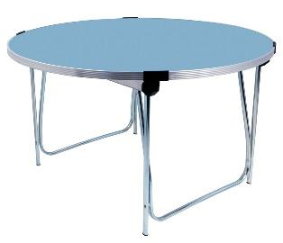 4ft Laminate Round Folding Table - Soft Blue thumbnail