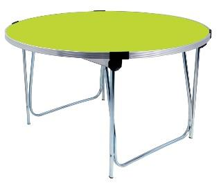 5ft Laminate Round Folding Table  - Acid Green thumbnail