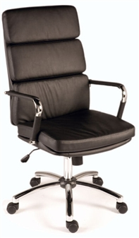 Charles Eames Style High Back Executive Chair - Black thumbnail