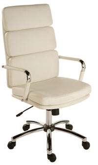 Charles Eames Style High Back Executive Chair - White thumbnail