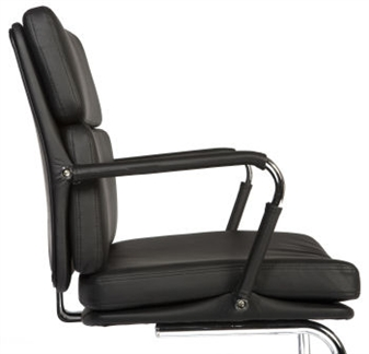 Charles Eames Style Medium Back Visitor Chair - Black thumbnail