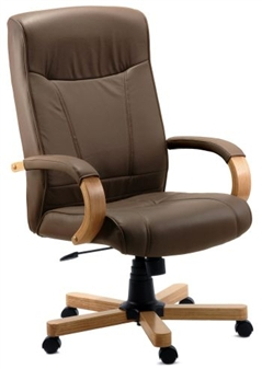 Brown Leather Executive Chair thumbnail