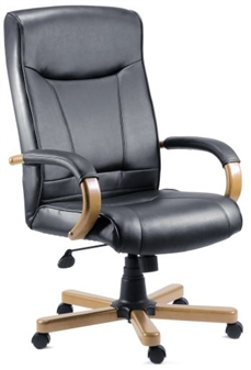 Black Leather Executive Chair thumbnail