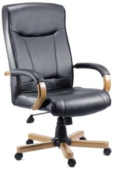 Black Leather Executive Chair thumbnail