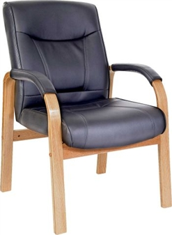 Black Leather Visitor Chair thumbnail