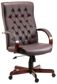 Traditional Leather Executive Armchair thumbnail