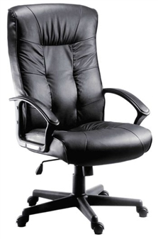 Executive High Back Leather Faced Chair thumbnail