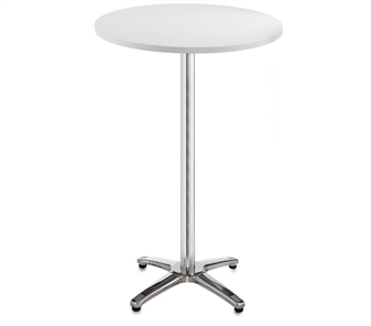 Chrome Leg Base Cafe/Bistro Tables - Tall - Round - White thumbnail