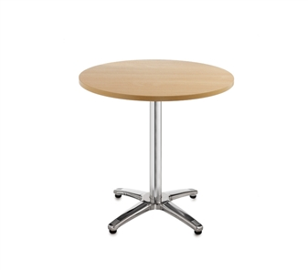 Chrome Leg Base Cafe/Bistro Table - Round - Beech thumbnail