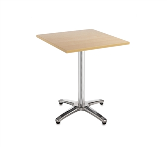 Chrome Leg Base Cafe/Bistro Table - Square - Beech thumbnail