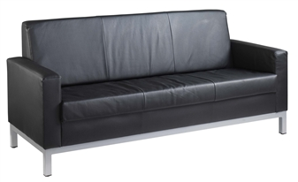 Helsinki Leather Faced Sofa - 3-Seater thumbnail