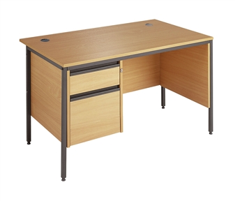 Budget Office Desk (B) With 2-Drawer Pedestal thumbnail