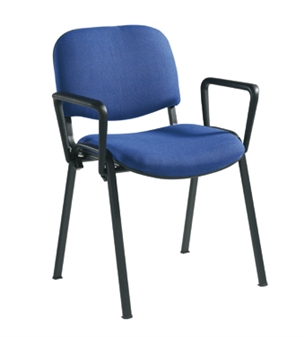 Black Frame Chair With Arms thumbnail