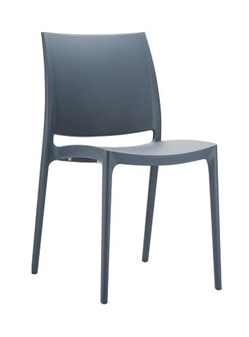Trix Polypropylene Stacking Chair - Black thumbnail