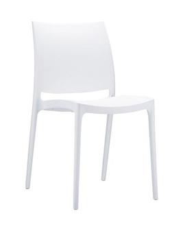 Trix Polypropylene Stacking Chair - White thumbnail