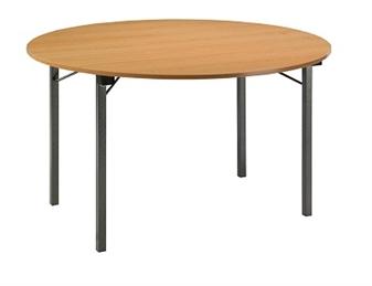 Folding Circular U-Table - Beech Top thumbnail