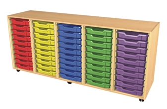 5 Bay Tray Storage Unit - 50 Trays thumbnail