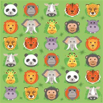 Zoo Animal Mini Placement Carpets thumbnail