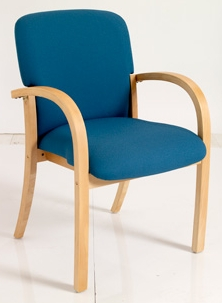 HATTON Wooden Conference/Meeting Room Chair - Vinyl thumbnail