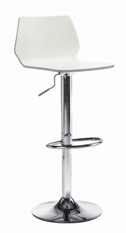 White High Gloss Tall Wooden Cafe / Bistro Chair thumbnail