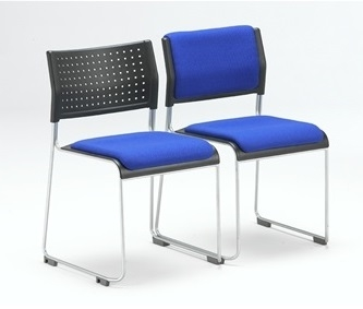 Twilight Stacking Chair With Upholstered Seat & Upholstered Seat & Back thumbnail