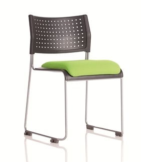 Twilight Stacking Chair With Upholstered Seat  thumbnail