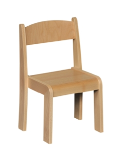Beech Stacking Chair - Beech thumbnail