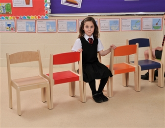 Beech Stacking Chairs thumbnail