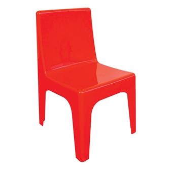 Kidz Plastic Chair - Red thumbnail