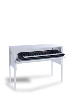 White Keyboard Desk White Frame thumbnail