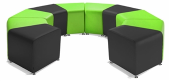 SINUOUS Fabric Reception Seating  thumbnail