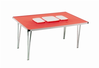 Tub Folding Table - Small - With 2 x Rectangular & 1 x Square Plastic Tubs thumbnail