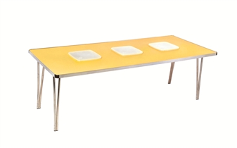 Tub Folding Table - Large - With 3 x Square Plastic Tubs thumbnail