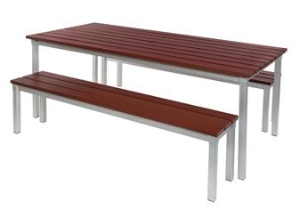 Enviro Outdoor Benches With Enviro Outdoor Table thumbnail