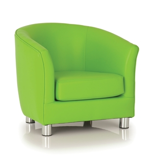 Childrens Vinyl Tub Chair - Green thumbnail