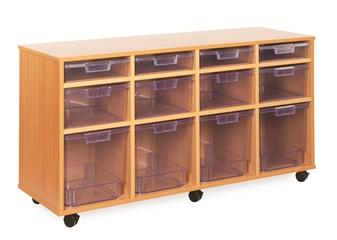 Crystal Clear Tray Storage - 12 Variety Trays thumbnail