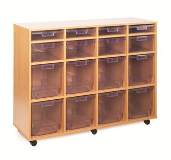 Crystal Clear Tray Storage - 16 Variety Trays thumbnail