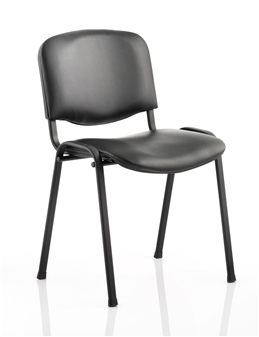 Black Vinyl Stacking Chair - Black Frame thumbnail