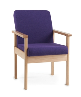 Meavy Wooden Reception Chair With Arms thumbnail