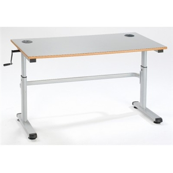Double 1200mm Height Adjustable Desk thumbnail