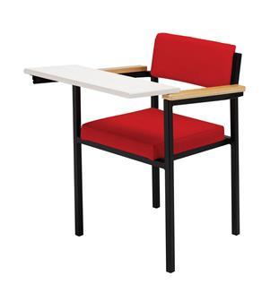 Spritz Heavy Duty Writing Tablet Chair - Platinum Frame thumbnail