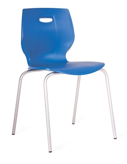 Poly Four Legged Chair - Blue thumbnail