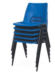 Poly Stacker Chair - Hi-Blue Stack thumbnail