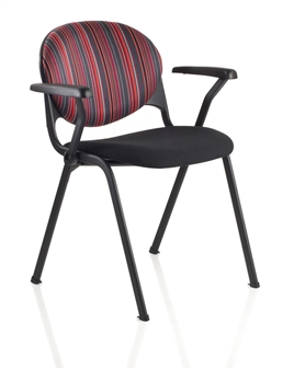 Prima 4 Leg Chair Shown With Optional Arms thumbnail