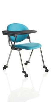 Prima 4 Leg Chair Shown With Tablet & Castors thumbnail