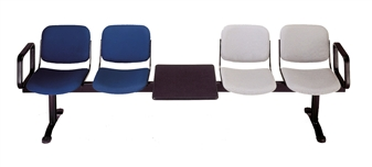 Kendall Beam Seat Shown With Arms and Table thumbnail