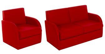 BRS/A Modular Box Reception Sofa Seat - With Arms - Vinyl thumbnail