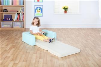 Snoozeland Folding Seat in Cream & Aqua thumbnail