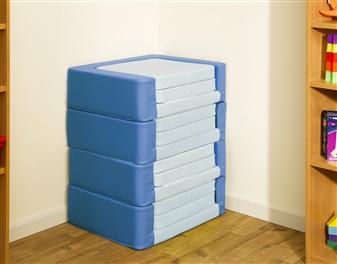 Snoozeland Folding Seat in Cornflour & Sky Blue thumbnail