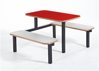 Bench 4 Seater 1 Access With Red Top Beech Seats thumbnail
